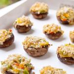 Receta Vegetariana: Champiñones rellenos.