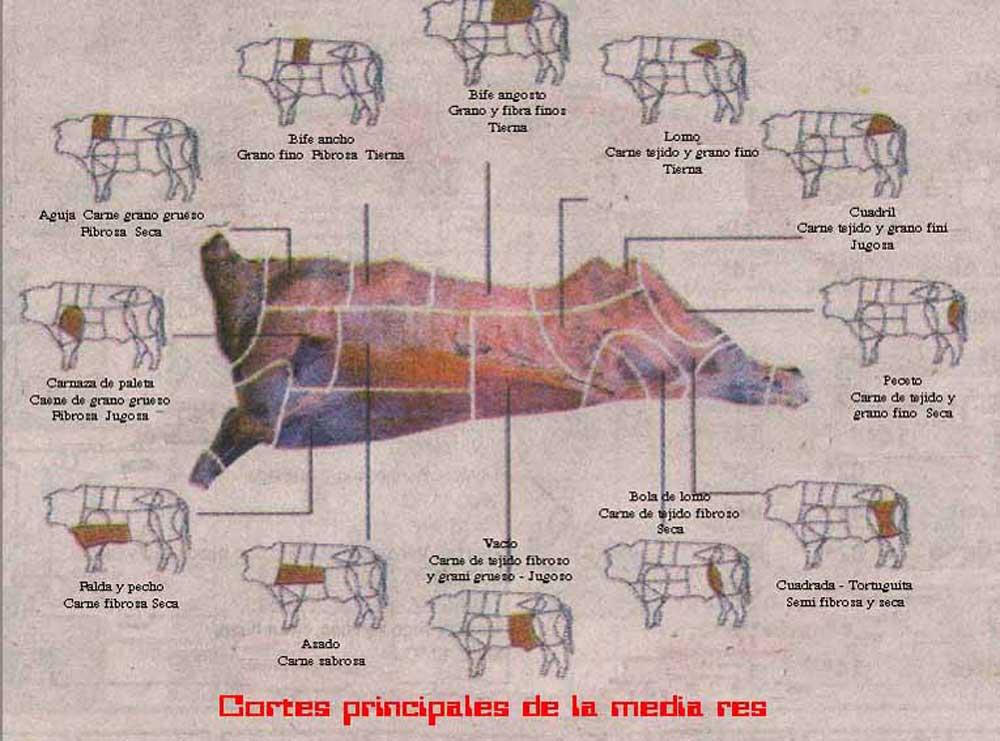 Cortes de carne vacuno argentinos