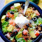 Tacos de quinoa.