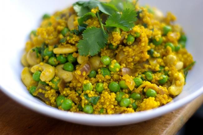 Quinoa con curry