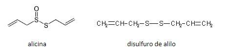 alicina y disulfuro de alilo