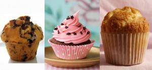Muffins, cupcake y magdalena
