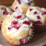 Como hacer un muffin de vainilla y fresa