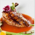 Pollo con salsa al Jazmín.