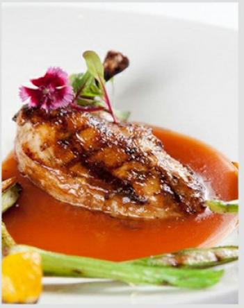 pollo con salsa de jazmin