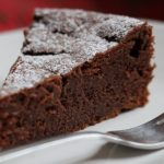 Tarta de castañas al cacao (apta para celíacos).